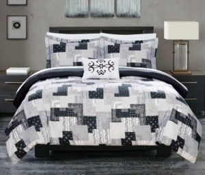Chic Home Utopia 8 Piece King Bed In a Bag Duvet Set Bedding