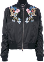 Alexander McQueen floral and gryphon embroidered bomber jacket - women - Silk/Acrylic/Polyamide/Wool - 38