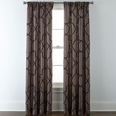 Liz Claiborne Gallery Scroll Rod-Pocket Curtain Panel