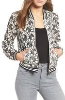 Jolt Women's Floral Lace Bomber Jacket