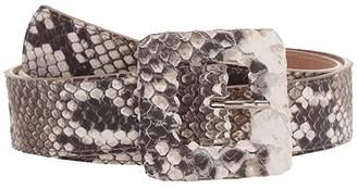 Leather Rock Santiago Belt (Snake Bone) Women's Belts
