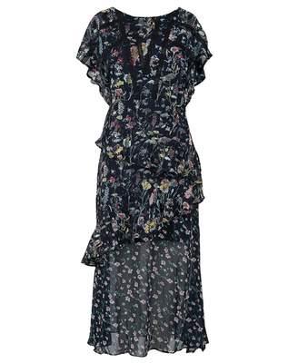Foxiedox Carolina Floral Midi Dress Colour: BLACK, Size: 8