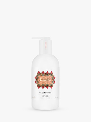 Claus Porto Favorito Red Poppy Liquid Soap, 300ml