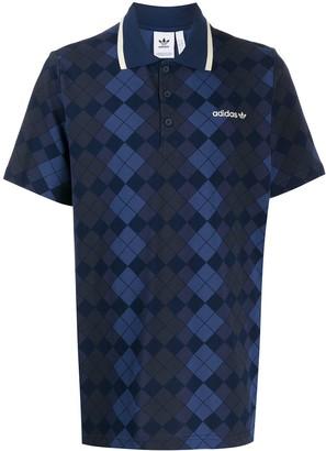 adidas Argyle Pattern Polo Shirt