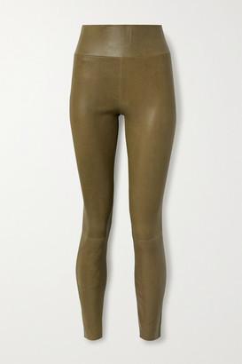 Sprwmn Leather Leggings - Army green