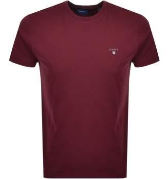 Gant Original T Shirt Red