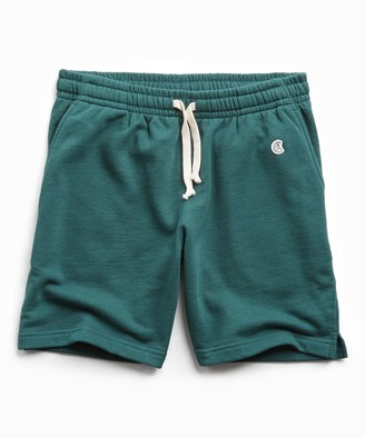 Todd Snyder + Champion Terry Warm Up Short in Storm Green