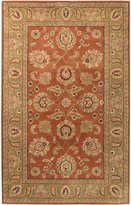 Surya CRN6019 Crowne Classic Hand Tufted 100% Wool Rust Red Rug (6-Feet x 9-Feet )