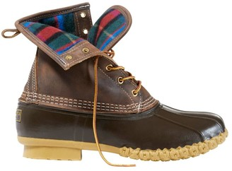 """L.L. Bean Men's Bean Boots, 8"""" Flannel-Lined, Thinsulate Insulation"""