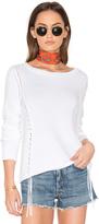 White + Warren Weaved Crew Neck Sweater