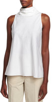 The Row Luna Tie-Back Sleeveless Top, White