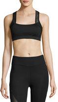 Koral Activewear Sling Mesh-Trim Sports Bra, Black
