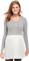 Motherhood Cable Knit Maternity Sweater Shirt