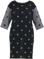 Sun 68 Polka Dot Merino Wool Knited Dress
