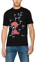 Disney Men's Deadpool Cartoon Knockout T-Shirt