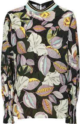 Reiss Flora - Floral Printed Blouse in Multi