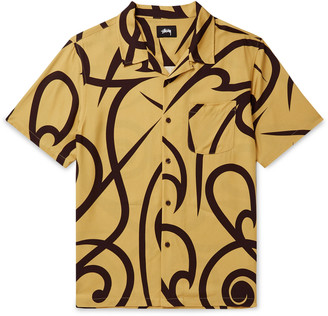 Stussy Camp-Collar Printed Voile Shirt