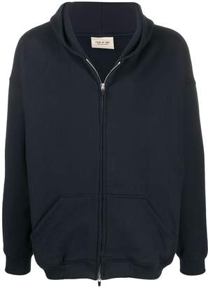 Fear Of God plain zipped hoodie