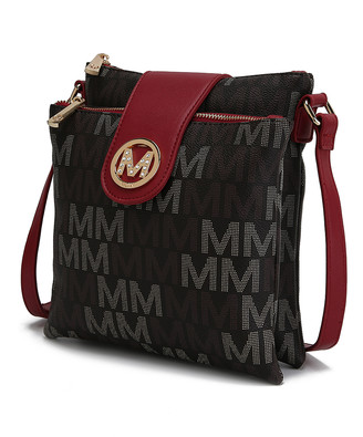MKF Collection by Mia K. Women's Handbags - Brown Logo Accent Crossbody Bag