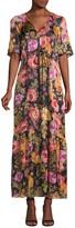 Kobi Halperin Noa Embellished Floral Peasant Dress