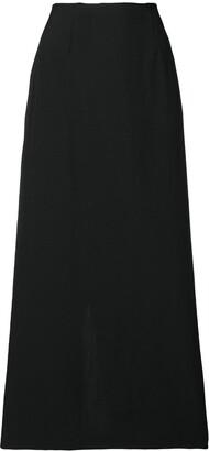Comme Des Garçons Pre Owned Raw-Edge Midi Skirt