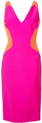 Thierry Mugler colour block sleeveless mini dress