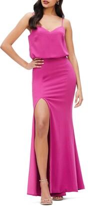 Dress the Population Gracelyn Blouson Jersey Gown