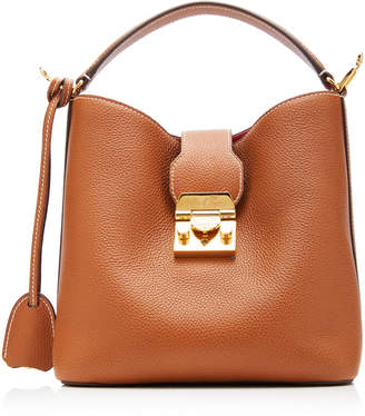 Mark Cross Murphy Small Textured-Leather Bucket Bag