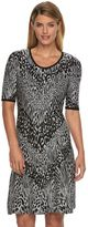 Dana Buchman Women's Animal Fit & Flare Sweaterdress
