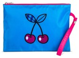 Mossimo POPTIMISM! Women's Small Cherry Print Pouch Blue