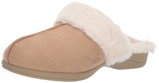 Powerstep Luxe Women's Orthotic Slippers - Memory Foam Slip-Ons with Arch Support