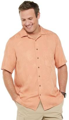 Big & Tall Batik Bay Classic-Fit Jacquard Tonal Solid Button-Down Shirt
