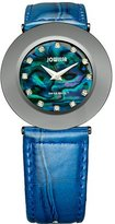 Jowissa Women's J1.064.L Safira 999 Rhinestone Blue Mother-of-Pearl Patent Leather Watch