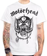 Largemouth Officially Licensed Motorhead War Pig T-Shirt White (XXL)