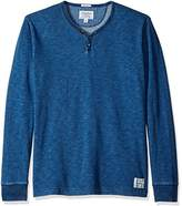 Lucky Brand Men's Long Sleeve Y Neck Terry Tee in Indigo