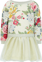 Monsoon Baby Aurora Rose Jersey Mock Dress