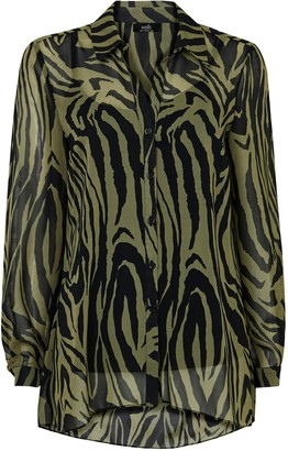 Wallis Khaki Animal Print Shirt