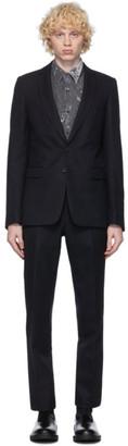 Dries Van Noten Navy Wool Straight Suit