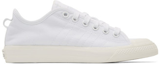 adidas White Nizza RF Sneakers