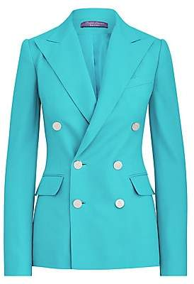 Ralph Lauren Women's Camden Double Breasted Cashmere Blazer Jacket