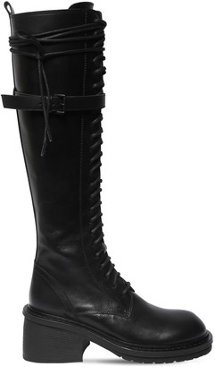 Ann Demeulemeester 60mm Leather Tall Combat Boots