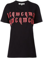 McQ by Alexander McQueen logo embroidered T-shirt - women - Cotton - XS