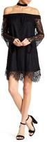 Love, Fire Off-the-Shoulder Lace Dress