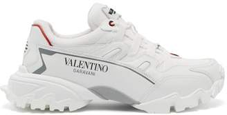 Valentino Climbers Leather Trainers - Mens - White