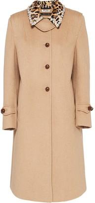 Miu Miu velour long-length coat