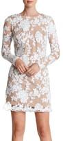 Dress the Population Women's 'Grace' Sequin Lace Long Sleeve Shift Dress