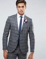 Jack & Jones Premium Slim Wedding Suit Jacket In Check