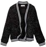 Ten Sixty Sherman Fuzzy Shine Athletic Cardigan (Big Girls)