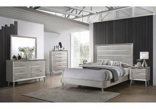 Silver Orchid Baird Metallic Sterling Panel Bed