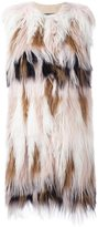 Giambattista Valli sleeveless fur coat - women - Silk/Sheep Skin/Shearling - 42